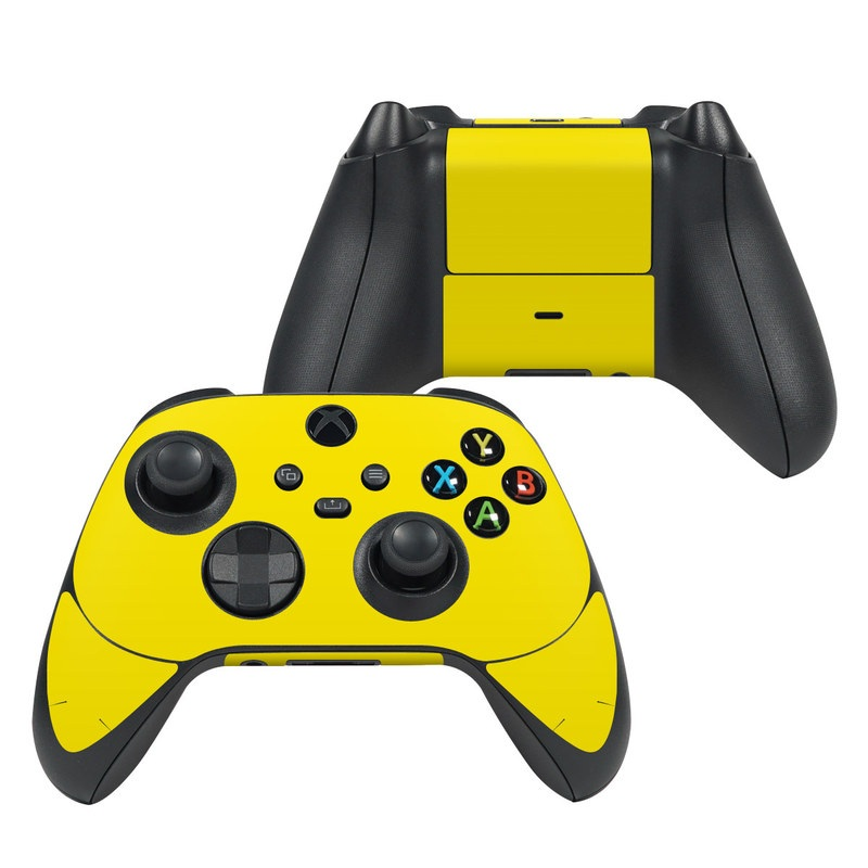 Xbox Series X Controller Skin design of Green, Yellow, Orange, Text, Font with yellow colors