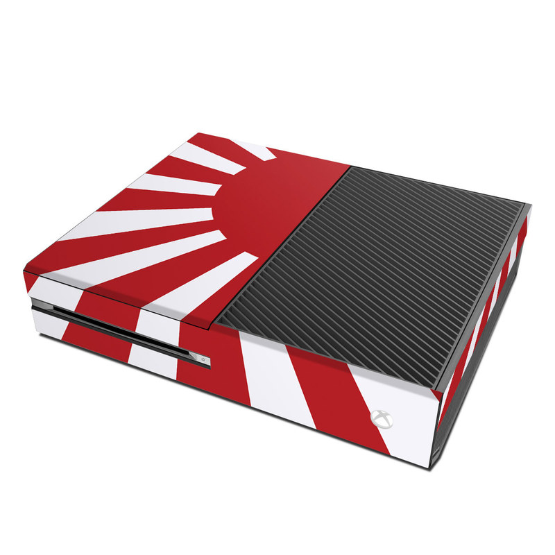 Xbox One Skin design of Red, Line, Flag, Pattern, Graphic design, Graphics, Clip art with red, white, gray colors