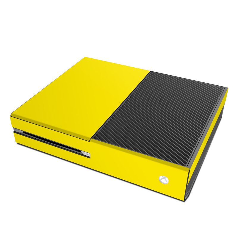 Xbox One Skin design of Green, Yellow, Orange, Text, Font with yellow colors