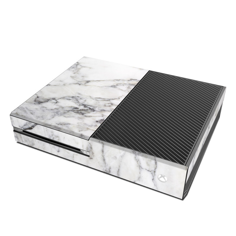 Xbox One Skin design of White, Geological phenomenon, Marble, Black-and-white, Freezing with white, black, gray colors