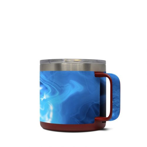 Blue Quantum Waves Yeti Rambler Mug 14oz Skin
