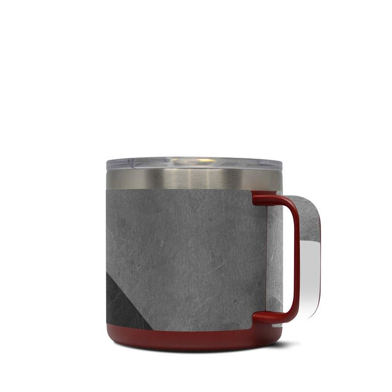 Yeti Rambler Mug 14oz Skin design of Black, White, Black-and-white, Line, Grey, Architecture, Monochrome, Triangle, Monochrome photography, Pattern with white, black, gray colors