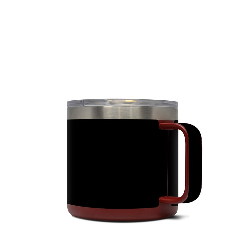 Yeti Rambler Mug 14oz Skin design of Black, Darkness, White, Sky, Light, Red, Text, Brown, Font, Atmosphere with black colors
