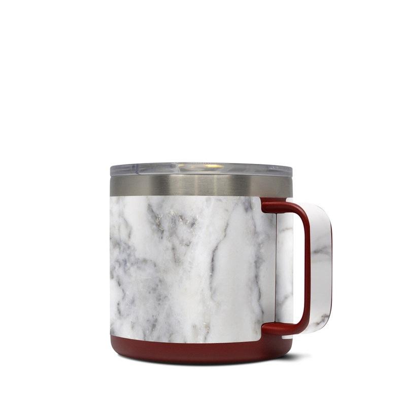 Yeti Rambler Mug 14oz Skin design of White, Geological phenomenon, Marble, Black-and-white, Freezing with white, black, gray colors