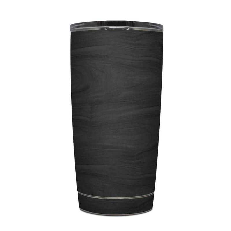 Yeti Rambler Tumbler 20oz Skin design of Black, Brown, Wood, Grey, Flooring, Floor, Laminate flooring, Wood flooring with black colors
