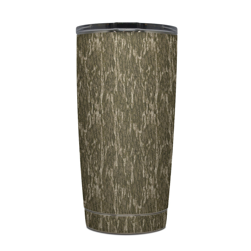 Yeti Rambler Tumbler 20oz Skin design of Grass, Brown, Grass family, Plant, Soil with black, red, gray colors