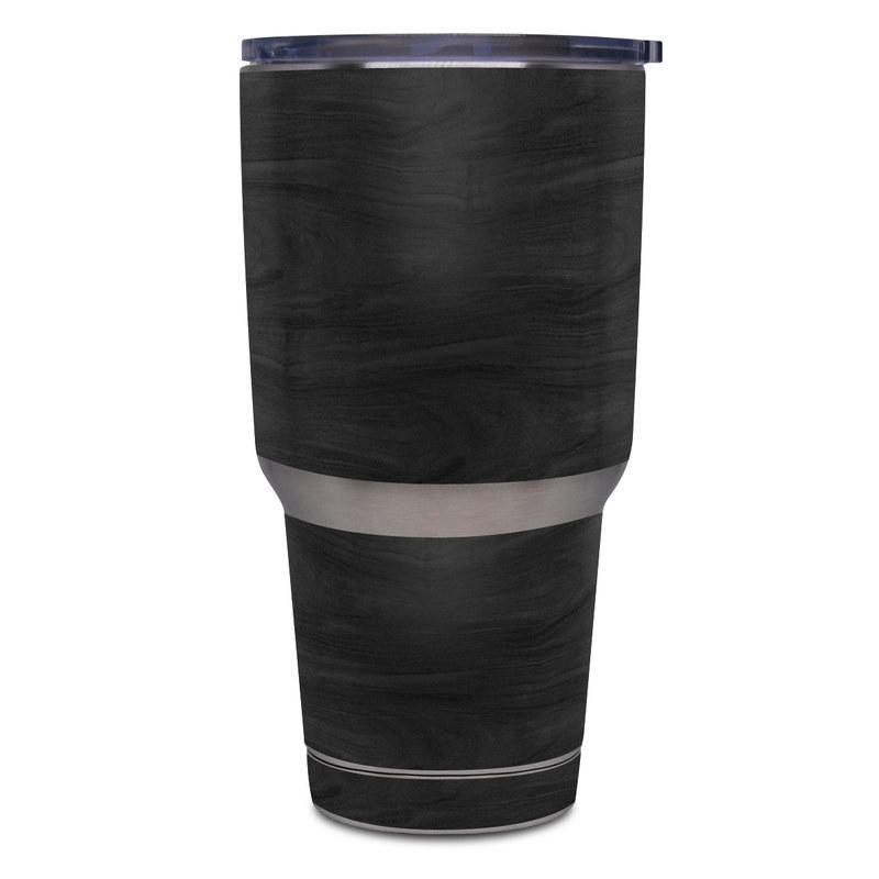 Yeti Rambler Tumbler 30oz Skin design of Black, Brown, Wood, Grey, Flooring, Floor, Laminate flooring, Wood flooring with black colors
