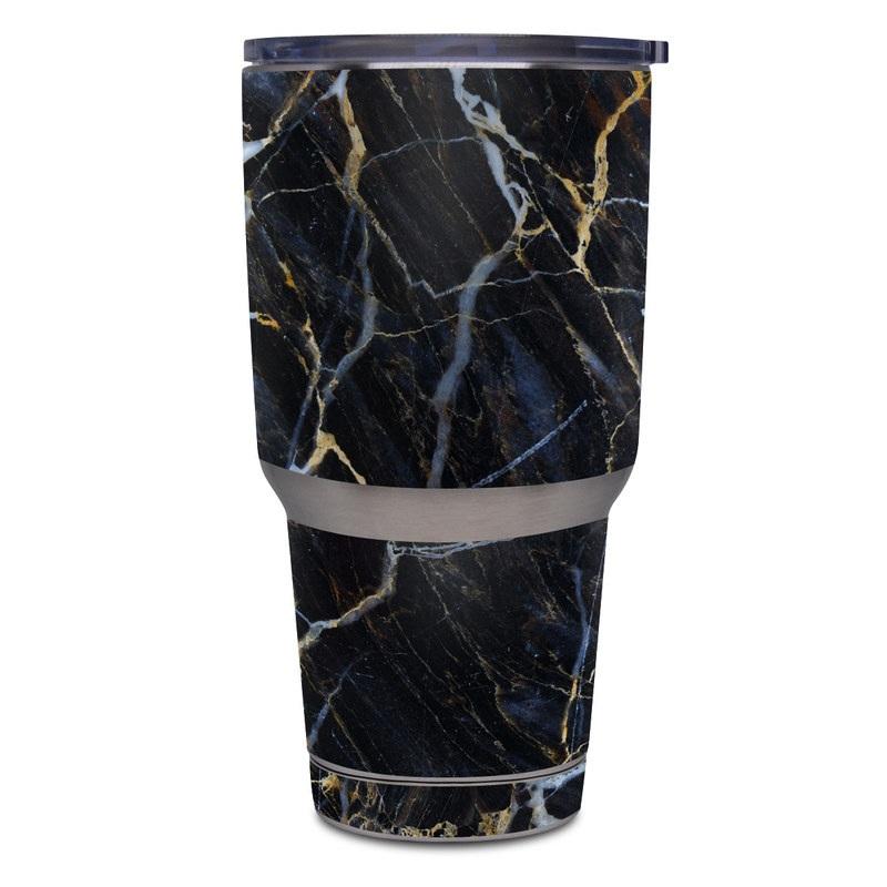 1e55fe3fd7b Yeti Rambler Tumbler 30oz Skin design of Black, Yellow, Rock, Brown, Marble