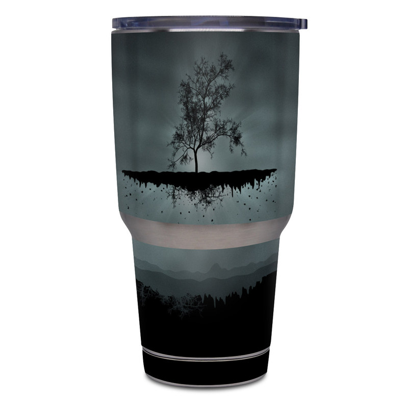 Flying Tree Black Yeti Rambler Tumbler 30oz Skin