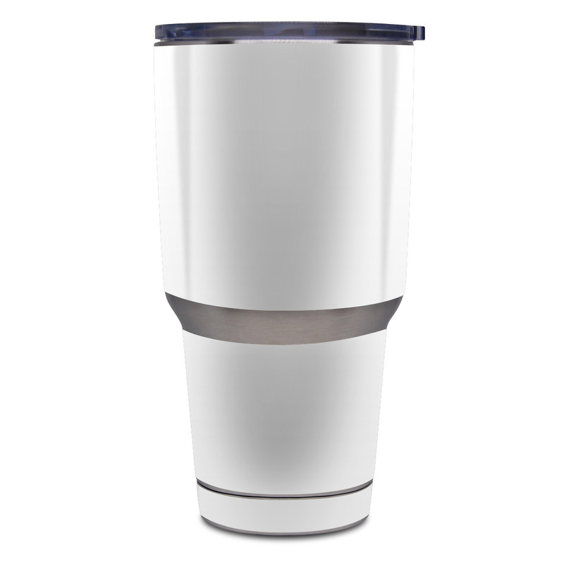 Yeti Rambler Tumbler 30oz Skin design of White, Black, Line with white colors