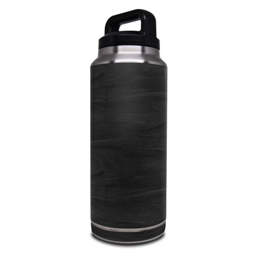 Black Woodgrain Yeti Rambler Bottle 36oz Skin
