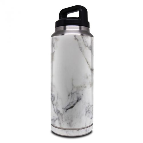 White Marble Yeti Rambler Bottle 36oz Skin