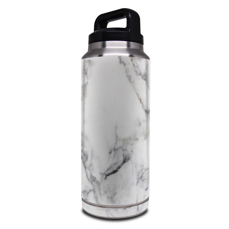 Yeti Rambler Bottle 36oz Skin design of White, Geological phenomenon, Marble, Black-and-white, Freezing with white, black, gray colors