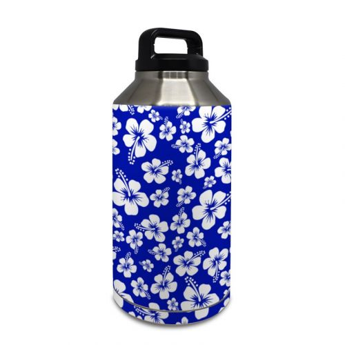 Aloha Blue Yeti Rambler Bottle 64oz Skin