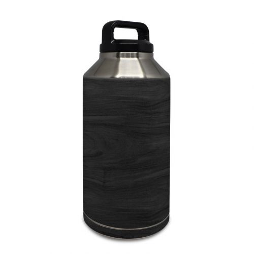 Black Woodgrain Yeti Rambler Bottle 64oz Skin