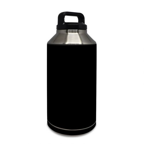Solid State Black Yeti Rambler Bottle 64oz Skin
