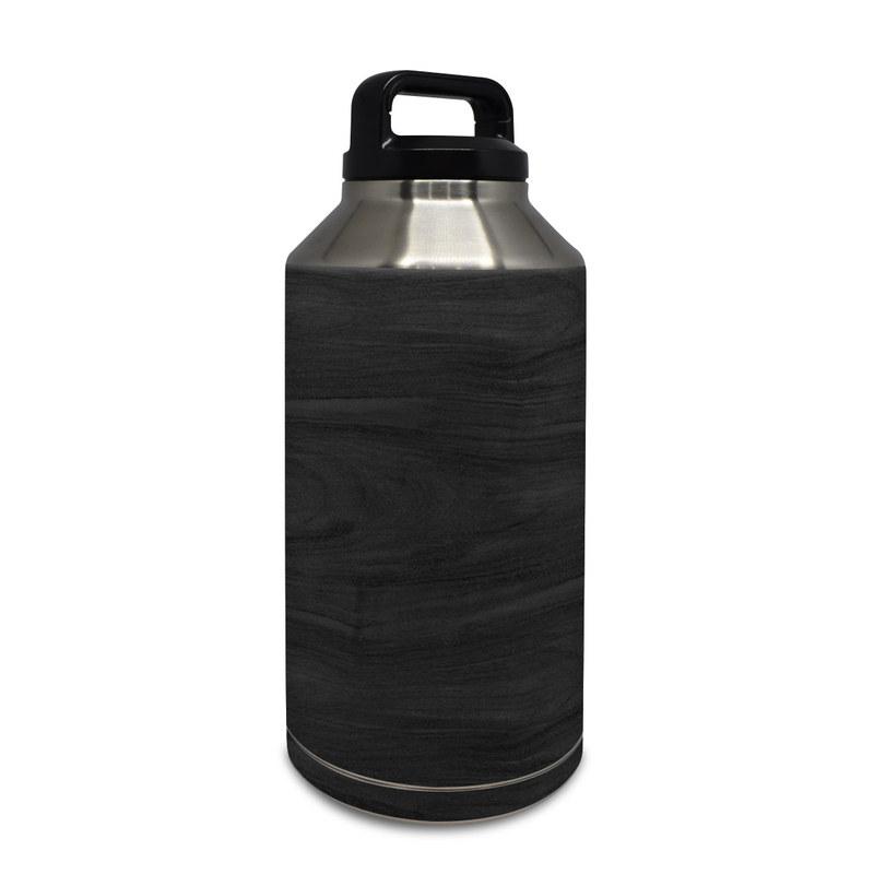 Yeti Rambler Bottle 64oz Skin design of Black, Brown, Wood, Grey, Flooring, Floor, Laminate flooring, Wood flooring with black colors