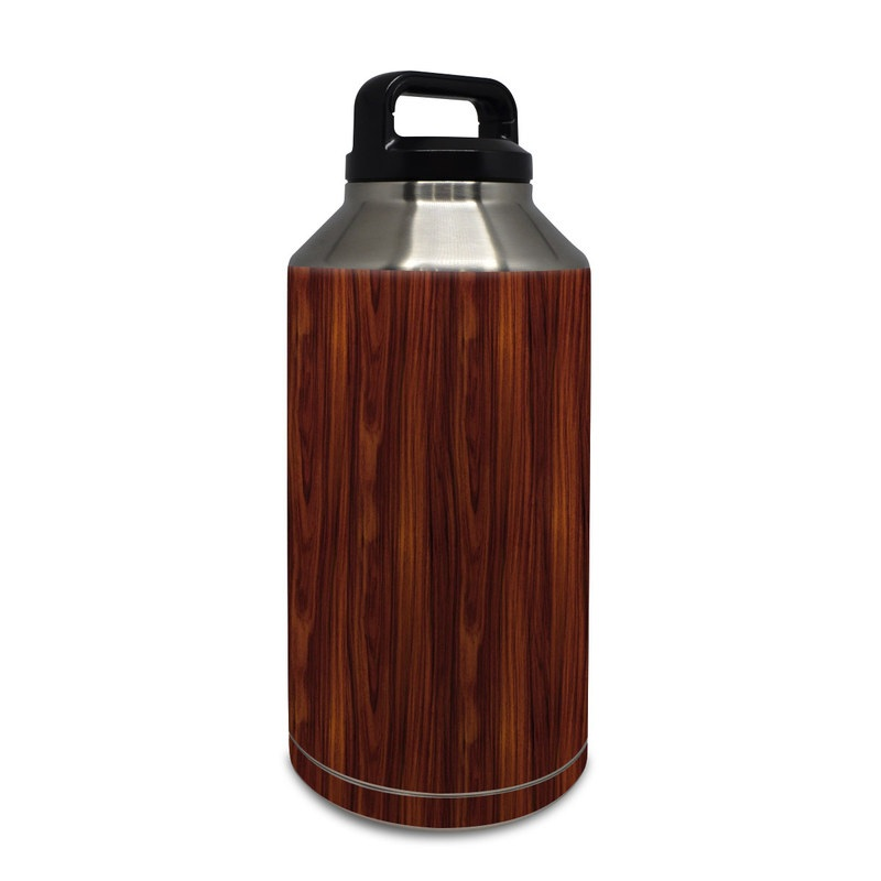 Dark Rosewood Yeti Rambler Bottle 64oz Skin