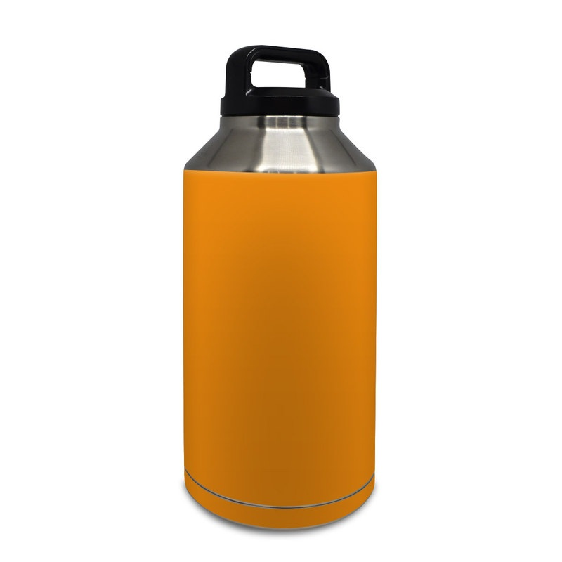 Solid State Orange Yeti Rambler Bottle 64oz Skin