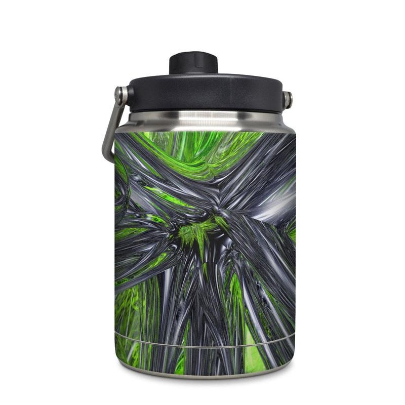 Yeti Rambler Jug Half Gallon Skin design of Green, Tree, Leaf, Plant, Grass, Terrestrial plant, Botany, Woody plant, Arecales, Vascular plant with green, gray, black colors