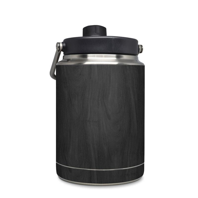 Yeti Rambler Jug Half Gallon Skin design of Black, Brown, Wood, Grey, Flooring, Floor, Laminate flooring, Wood flooring with black colors