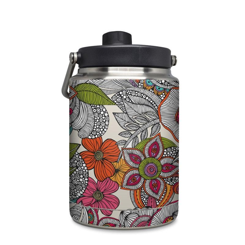 Yeti Rambler Jug Half Gallon Skin design of Pattern, Drawing, Visual arts, Art, Design, Doodle, Floral design, Motif, Illustration, Textile with gray, red, black, green, purple, blue colors