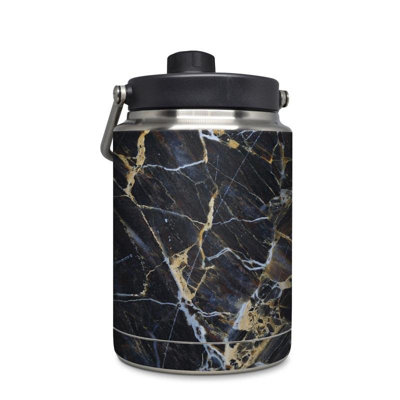 5cdbb425052 Yeti Rambler Jug Half Gallon Skin design of Black, Yellow, Rock, Brown,
