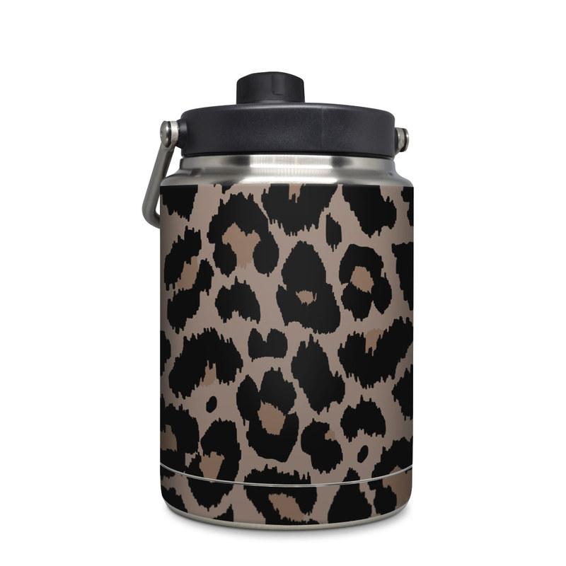Yeti Rambler Jug Half Gallon Skin design of Pattern, Brown, Fur, Design, Textile, Monochrome, Fawn with black, gray, red, green colors