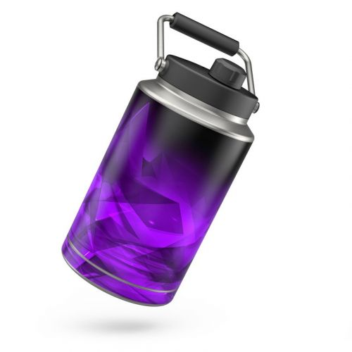 Dark Amethyst Crystal Yeti Rambler Jug One Gallon Skin
