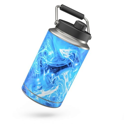 Blue Quantum Waves Yeti Rambler One Gallon Jug Skin