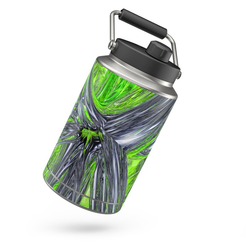 Yeti Rambler Jug One Gallon Skin design of Green, Tree, Leaf, Plant, Grass, Terrestrial plant, Botany, Woody plant, Arecales, Vascular plant with green, gray, black colors