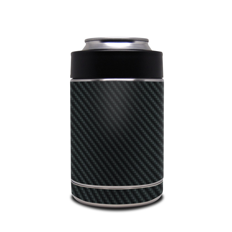 Yeti Rambler Colster Skin design of Green, Black, Blue, Pattern, Turquoise, Carbon, Textile, Metal, Mesh, Woven fabric with black colors