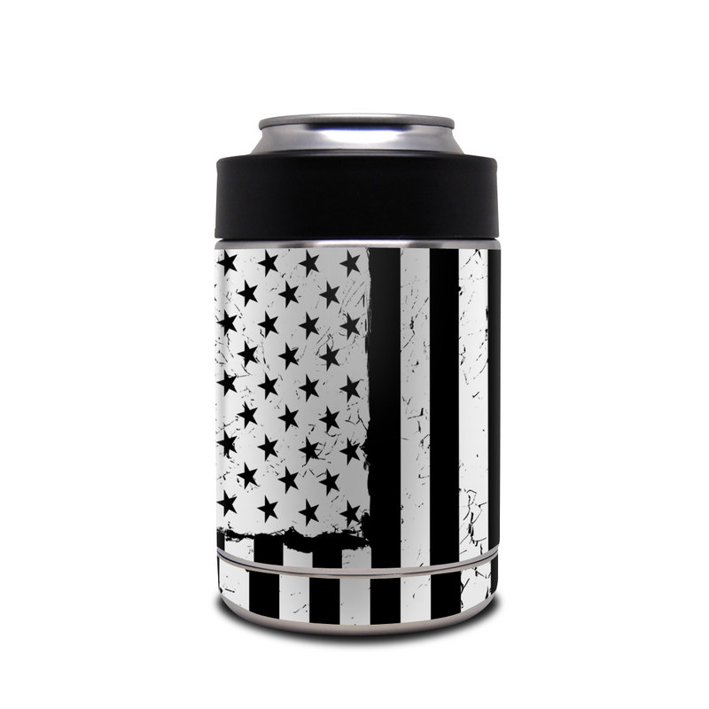 Yeti Rambler Colster Skin design of Line, Black-and-white, Text, Monochrome, Pattern, Design, Monochrome photography, Font, Parallel, Style with white, blakc colors