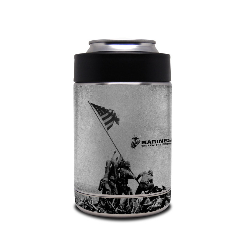 Yeti Rambler Colster Skin design of Flag, Illustration, Stock photography, Pole with gray, black colors