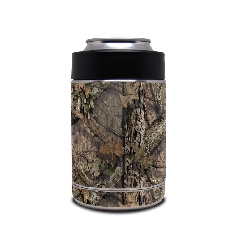Yeti Rambler Colster Skin design of shellbark hickory, Camouflage, Tree, Branch, Trunk, Plant, Leaf, Adaptation, Wood, Twig with orange, green, red, black, gray colors