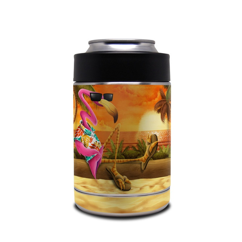 Yeti Rambler Colster Skin design of Cartoon, Art, Animation, Illustration, Plant, Cg artwork, Shoe, Fictional character with red, orange, green, black, pink colors