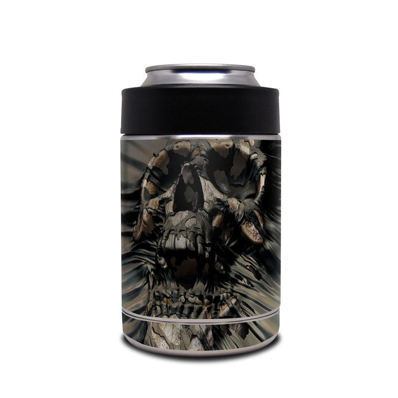 Yeti Rambler Colster Skin design of Cg artwork, Fictional character, Illustration, Demon, Fiction, Supervillain, Mythology, Art with black, green, gray, red colors