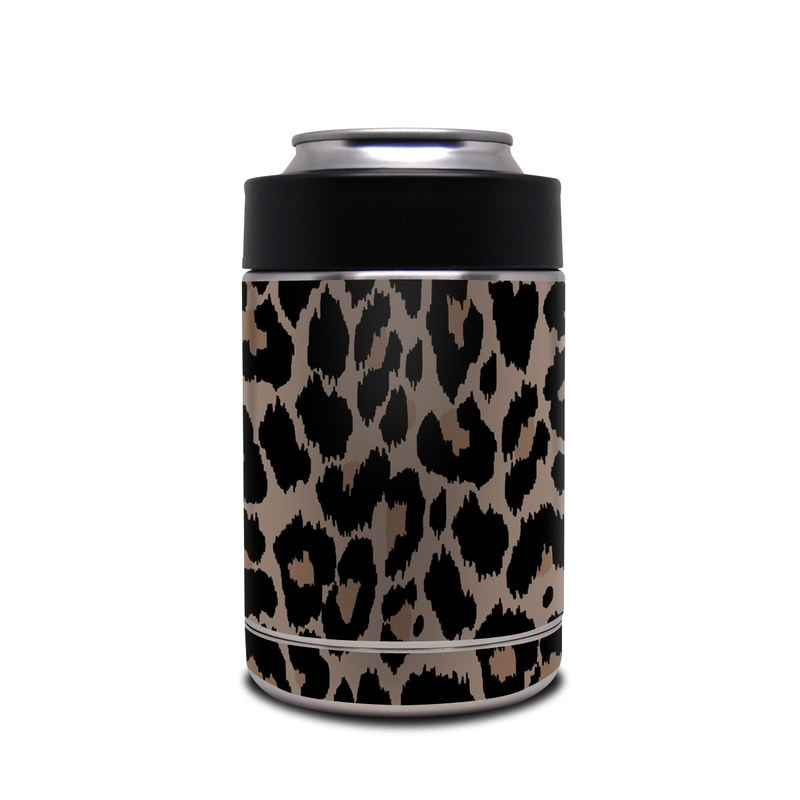 Yeti Rambler Colster Skin design of Pattern, Brown, Fur, Design, Textile, Monochrome, Fawn with black, gray, red, green colors