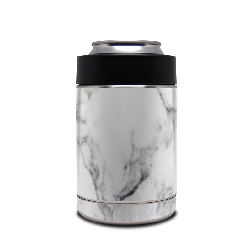 Yeti Rambler Colster Skin design of White, Geological phenomenon, Marble, Black-and-white, Freezing with white, black, gray colors