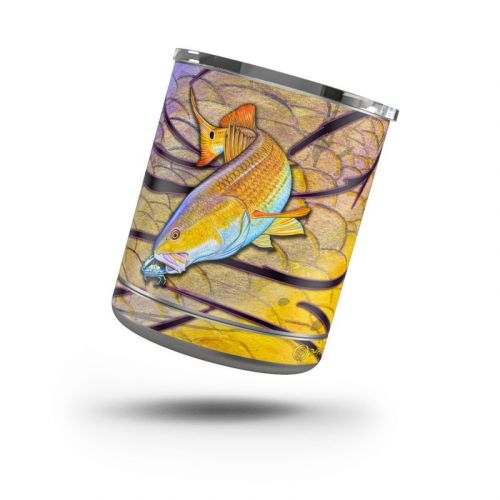 Red Fish Yeti Rambler Lowball 10oz Skin