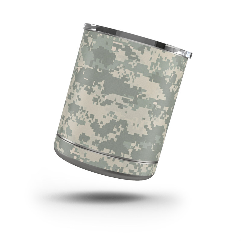 Yeti Rambler Lowball 10oz Skin design of Military camouflage, Green, Pattern, Uniform, Camouflage, Design, Wallpaper with gray, green colors