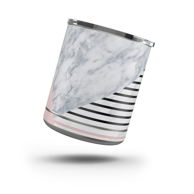 Yeti Rambler Lowball 10oz Skin design of White, Line, Architecture, Stairs, Parallel with gray, black, white, pink colors