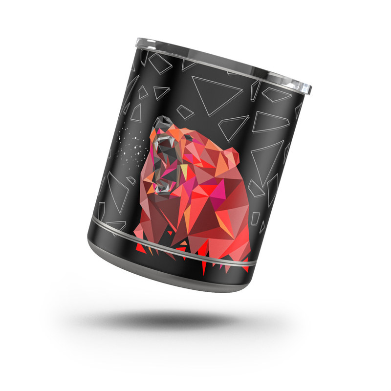 Yeti Rambler Lowball 10oz Skin design of Graphic design, Triangle, Font, Illustration, Design, Art, Visual arts, Graphics, Pattern, Space with black, red colors