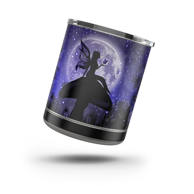 Yeti Rambler Lowball 10oz Skin design of Purple, Sky, Moonlight, Cg artwork, Fictional character, Darkness, Night, Illustration, Space, Star with black, blue, gray, purple colors