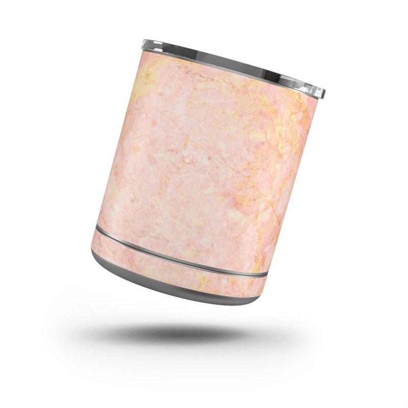Yeti Rambler Lowball 10oz Skin design of Pink, Peach, Wallpaper, Pattern with pink, yellow, orange colors