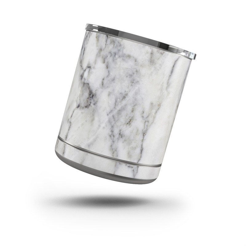 Yeti Rambler Lowball 10oz Skin design of White, Geological phenomenon, Marble, Black-and-white, Freezing with white, black, gray colors