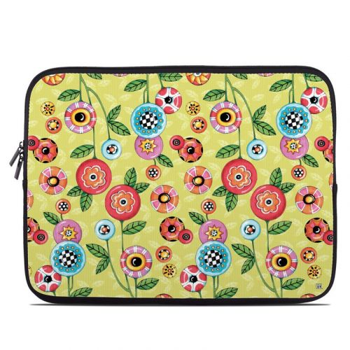Button Flowers Laptop Sleeve