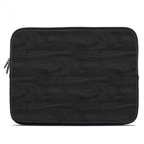 Black Woodgrain Laptop Sleeve