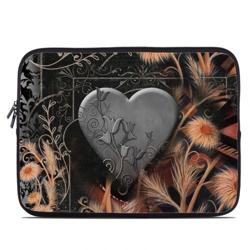 Black Lace Flower Laptop Sleeve