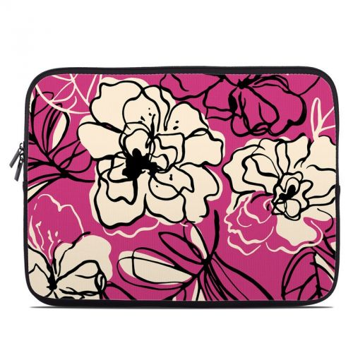 Black Lily Laptop Sleeve